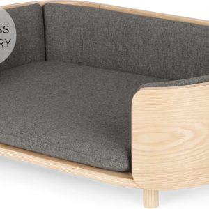 Kyali Dog Sofa, Natural Ash and Grey, S/M