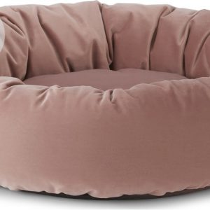 Kysler Large Round Pet Bed, Velvet Pink