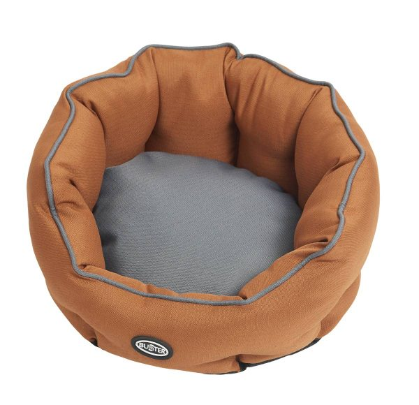 Buster Cocoon Beds Leather Brown/Steel Grey