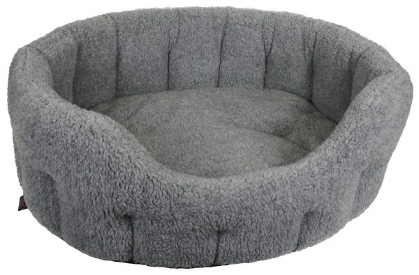 Fleece Material Softee Beds Silver Grey