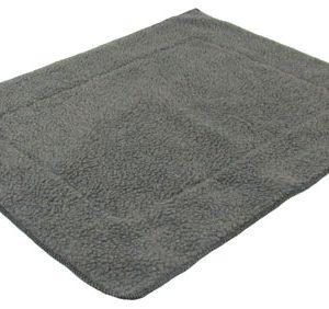 Grey Fleece Dog Crate Mat