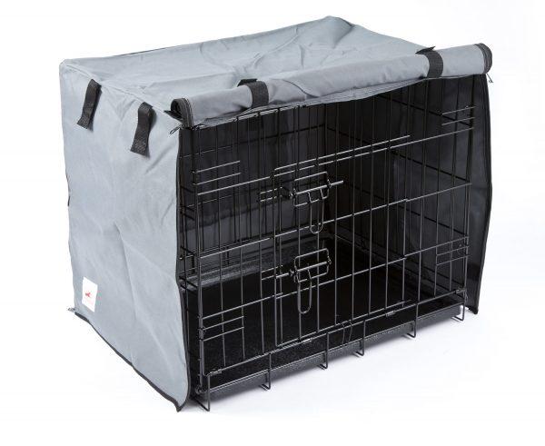 Settledown 2 Door Waterproof Dog Crate Covers Grey