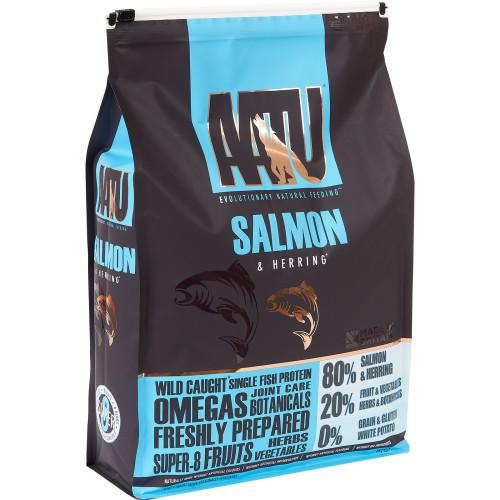 AATU 80/20 Salmon & Herring Adult Dog Food 5kg x 2