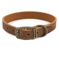 Ancol Heritage Latigo Leather Dog Collar