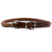 Ancol Heritage Round Sewn Leather Dog Collar