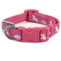 Ancol Pink Unicorn Dog Collar