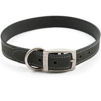 Ancol Timberwolf Grey Leather Dog Collar