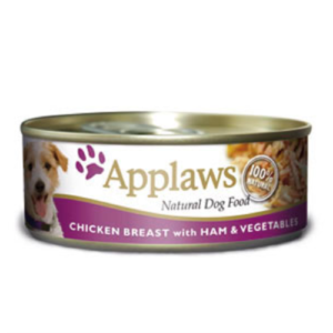 Applaws Chicken Ham & Vegetables Wet Can Adult Dog Food 156g x 6