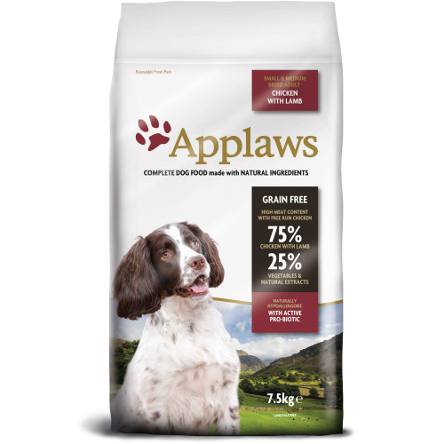 Applaws Chicken & Lamb Small & Medium Breed Dry Adult Dog Food 7.5kg
