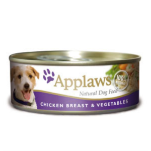 Applaws Meaty Tins Wet Dog Food 156g x 6 - Chicken with Vegetables