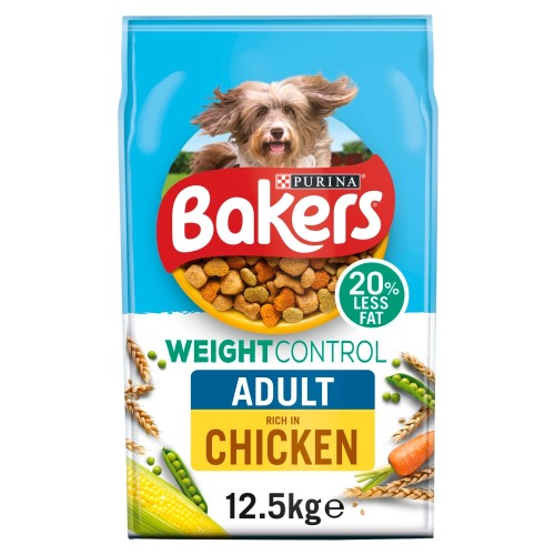 Bakers Chicken Weight Control Adult Dog Food 12.5kg x 2