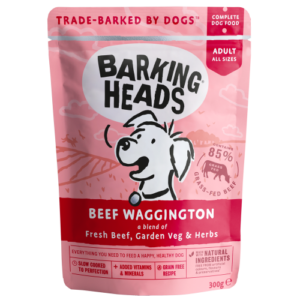 Barking Heads Beef Waggington Adult Dog Food 300g x 10