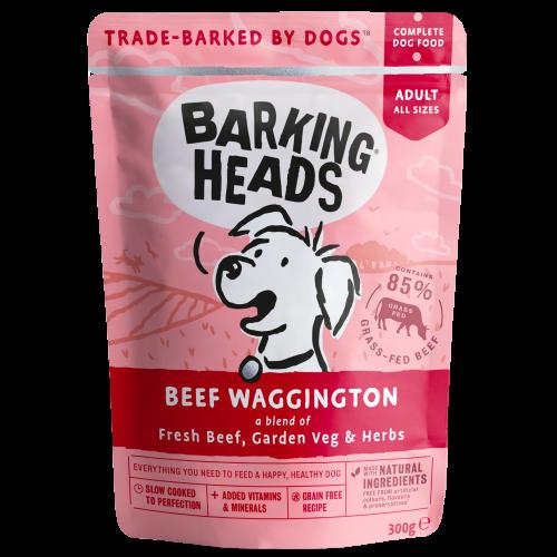 Barking Heads Beef Waggington Adult Dog Food 300g x 10