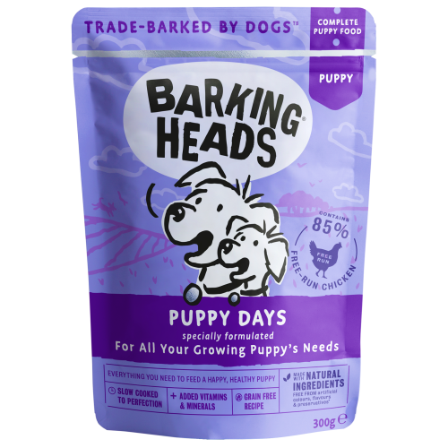 Barking Heads Puppy Days Wet Puppy Food 300g x 10