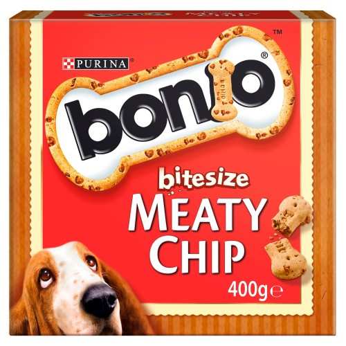 Bonio Bitesize Meaty Chip Dog Biscuits 400g