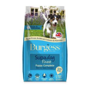 Burgess Supadog Complete Chicken Puppy Dog Food 12.5kg x 2