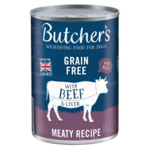 Butchers Beef & Liver in Jelly Dog Food Tins 400g x 12