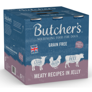 Butchers Meaty Recipes in Jelly Dog Food Tins 400g x 18