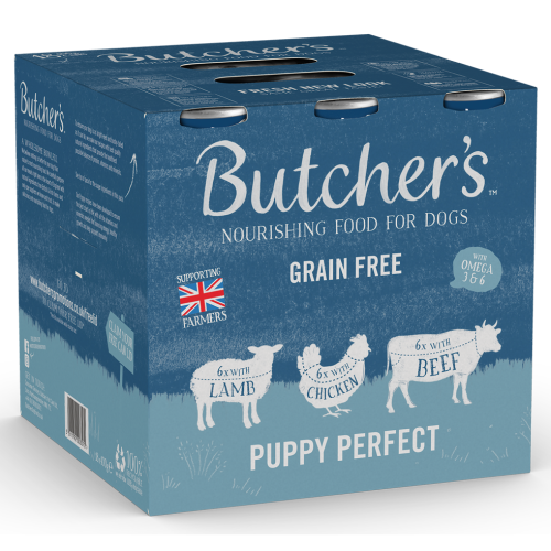 Butchers Puppy Perfect Dog Food Tins 400g x 54