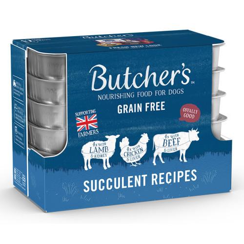 Butchers Succulent Recipes Dog Food Trays 150g x 12