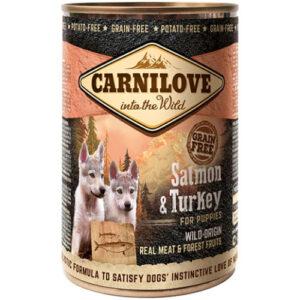 Carnilove Salmon & Turkey Puppy Wet Food 400g x 18