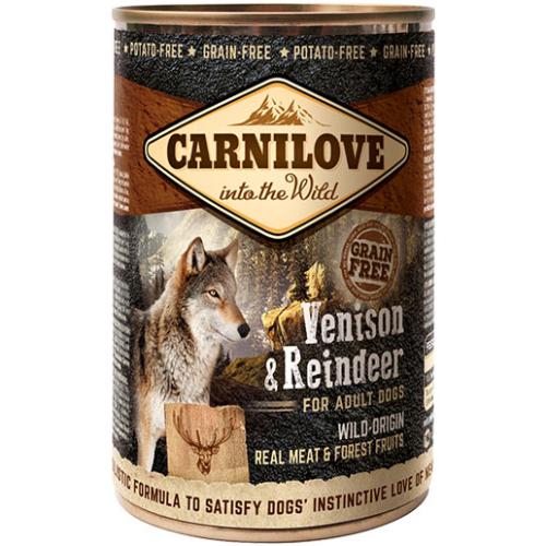 Carnilove Venison & Reindeer Adult Dog Food 400g x 6
