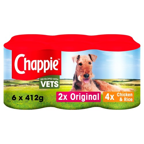 Chappie Can Favourites Adult Dog Food 412g x 6