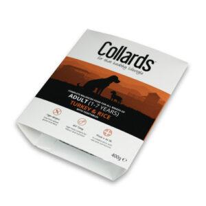 Collards Adult Turkey Rice & Veg Wet Dog Food Trays 400g x 7