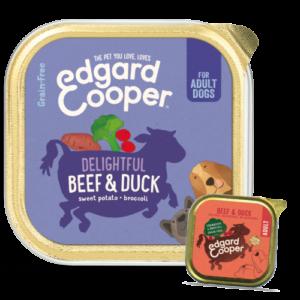 Edgard & Cooper Beef & Duck Grain Free Wet Adult Dog Food 150g x 55