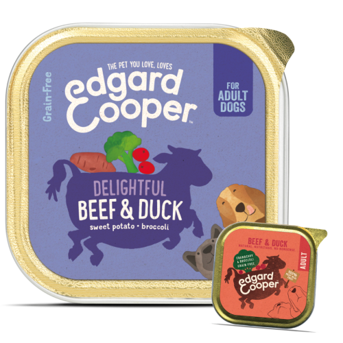 Edgard & Cooper Beef & Duck Grain Free Wet Adult Dog Food 150g x 55
