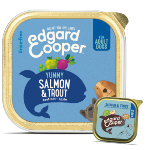 Edgard & Cooper Salmon & Trout Grain Free Wet Adult Dog Food 150g x 55