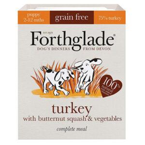 Forthglade Complete Grain Free Turkey, Butternut Squash & Veg Puppy Food 395g x 18