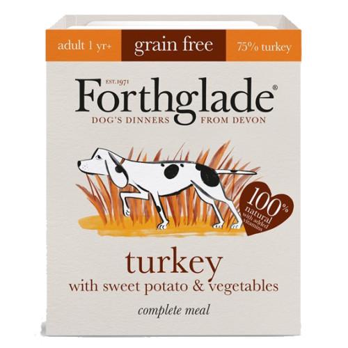 Forthglade Complete Grain Free Turkey Sweet Potato & Veg Adult Dog Food 395g x 18