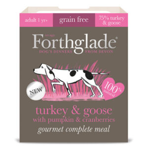 Forthglade Gourmet Turkey & Goose with Pumpkin & Cranberry Adult Dog Food 395g x 7