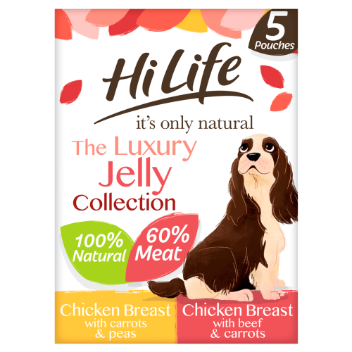 HiLife Its Only Natural Luxury Jelly Collection Wet Dog Food 100g x 45