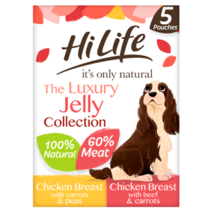 HiLife Its Only Natural Luxury Jelly Collection Wet Dog Food 100g x 5