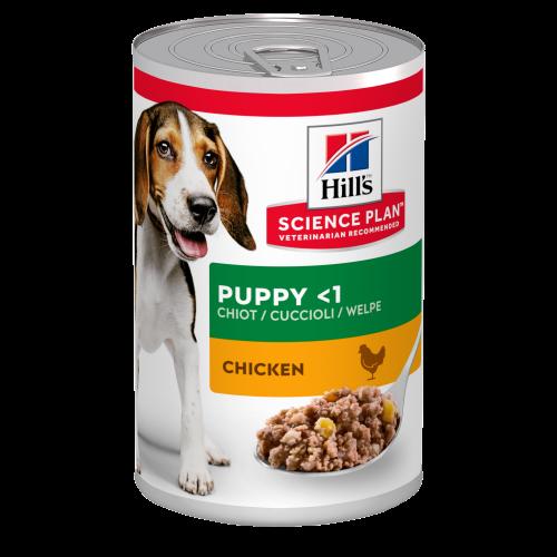 Hills Science Plan Medium Breed Puppy Chicken Wet Dog Food 370g x 12