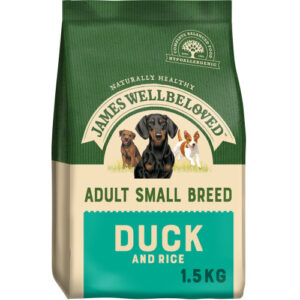James Wellbeloved Duck & Rice Adult Small Breed Dog Food 1.5kg