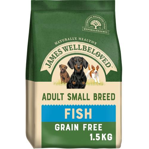 James Wellbeloved Grain Free Fish & Vegetable Small Breed Adult Dog Food 1.5kg