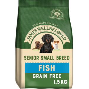 James Wellbeloved Grain Free Fish & Vegetable Small Breed Senior Dog Food 1.5kg