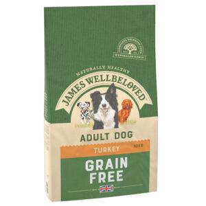 James Wellbeloved Grain Free Turkey & Vegetables Adult Dog Food 1.5kg