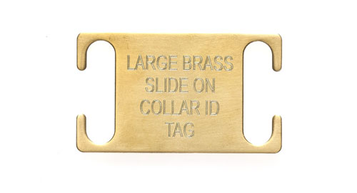 Large Brass Slide on Collar Tags