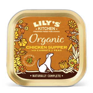 Lilys Kitchen Organic Chicken & Spelt Supper Dog Food 150g x 44