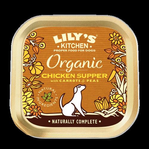Lilys Kitchen Organic Chicken & Spelt Supper Dog Food 150g x 44