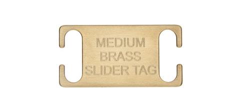 Medium Brass Slide on Collar Tags