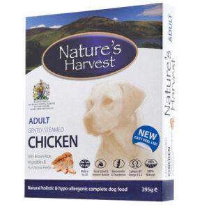 Natures Harvest Chicken & Brown Rice Adult Dog Food 395g x 10