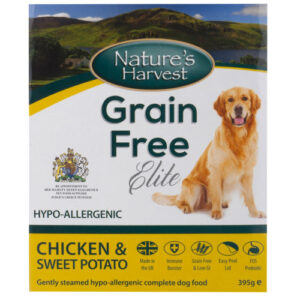 Natures Harvest Grain Free Chicken & Sweet Potato Adult Dog Food 395g x 10