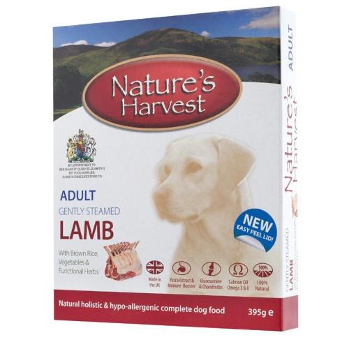 Natures Harvest Lamb & Brown Rice Adult Dog Food 395g x 10