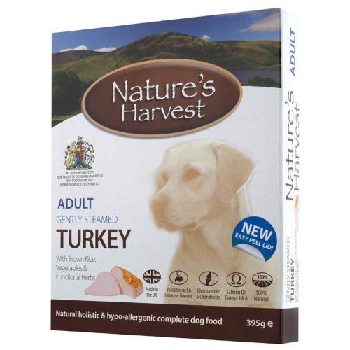 Natures Harvest Turkey & Brown Rice Adult Dog Food 395g x 10