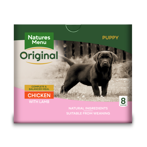 Natures Menu Chicken Lamb & Rice Puppy Food Pouches 300g x 40